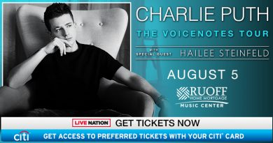 Charlie Puth Coming To Ruoff Home Mortgage Music Center!!!