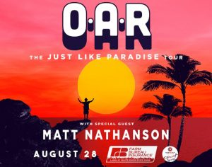 O.A.R. with special guest Matt Nathanson @ Farm Bureau Insurance Lawn at White River State Park | Indianapolis | Indiana | United States