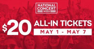 National Concert Week Means $20 Concert Tickets!