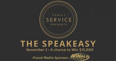 Join Win 104.9 and Family Service Inc. at the Speakeasy!