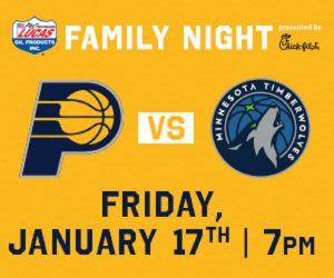 Indiana Pacers Vs Minnesota Timberwolves @ Bankers Life Fieldhouse