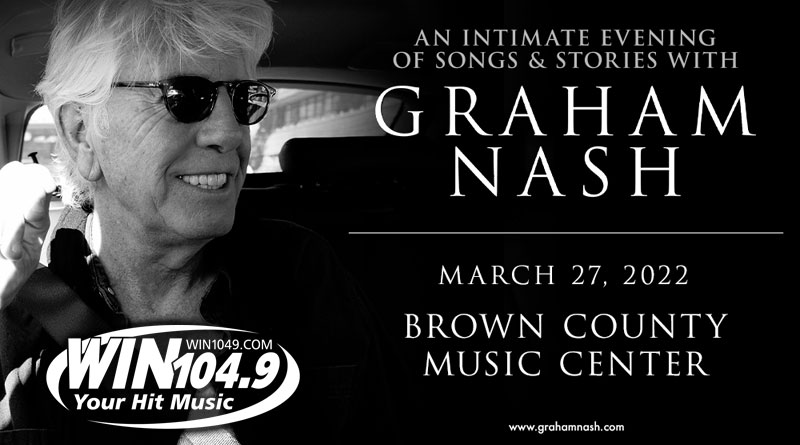 Graham Nash: An Evening of Songs And Stories Headed To The Brown County Music Center